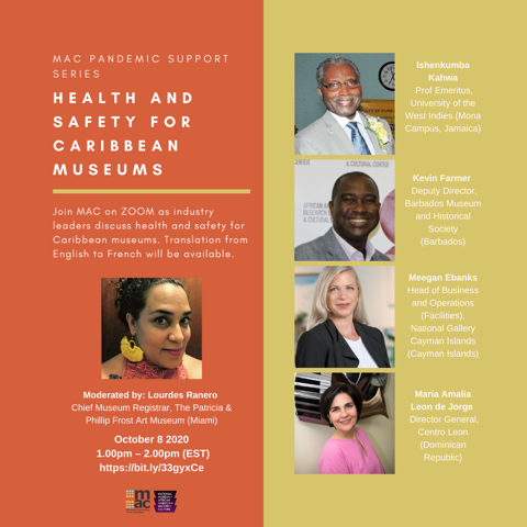 Pandemic Support Series - HEALTH AND SAFETY FOR CARIBBEAN MUSEUMS